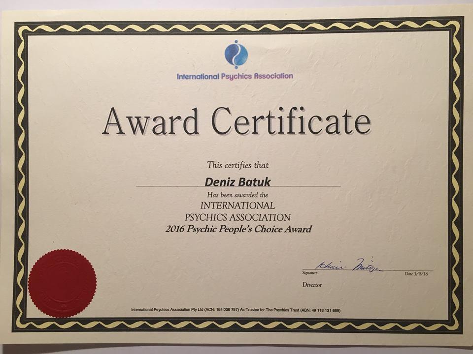 Psychic-Deniz-Batuk-Award-2016